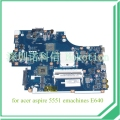 New75 la-5912p mbna102001 mb. na102.001 placa base para acer aspire 5551 emachines e640 placa madre ddr3 hd4200