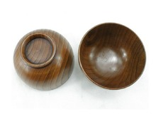Top-Grade Natural Solid Wood Wooden Bowl Wood Salad Bowl,Set of 2