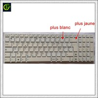 French AZERTY White Keyboard For Asus K53 K53E X52 X52F X52J X52JR X55 X55A X55C X55U K73 K73B K73E K73S X61 NJ2 FR