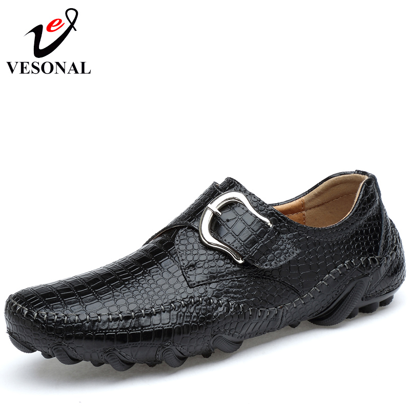VESONAL Genuine Leather Spring Quality Moccasins Men Loafers Male Shoes Driving Soft Light Casual Flats Designer Footwear 2018 vesonal 2017 quality mocassin male brand genuine leather casual shoes men loafers breathable ons soft walking boat man footwear