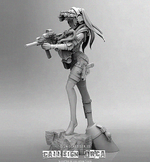 1/24 (75mm) Killer Whale Beauty Shooter Resin Soldier T75025