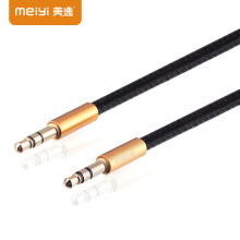 MEIYI Gold Plated Plug 3.5 mm Jack Aux Cable Male to Male Audio Cable for Car iPhone MP3 MP4 Headphone Speaker Mobile Phone
