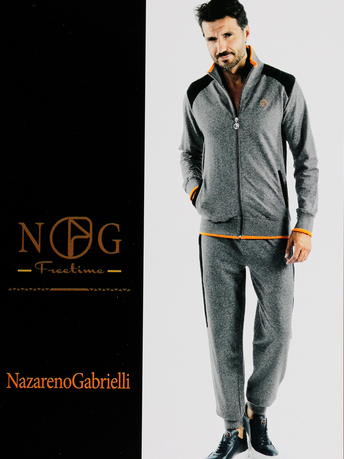 Sweatshirt Turtleneck Full ZIP + With Cuffs-full Cotton Sports Pants