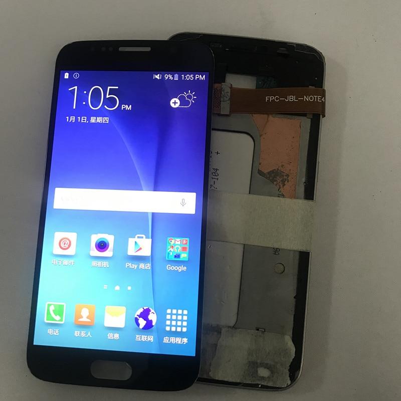 Super AMOLED Burn-dans L'ombre Écrans Lcd Pour Samsung S6 écran lcd Pour Samsung S6 G920 Affichage écran lcd ensemble de digitaliseur tactile