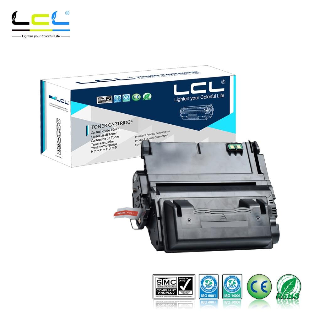 LCL 42A 42X Q5942A Q5942X Q1339A Q5945A 20000 Pages(1-Pack Black) Toner Cartridge Compatible for HP LaserJet 4200/4300/4250/4350