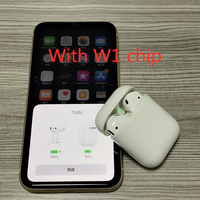 New 2019 w1 chip Bluetooth Earphone Headset As Air Ear Pods 1:1 Works Touch Voice Control Original Quality AAA+ for IOS/Android