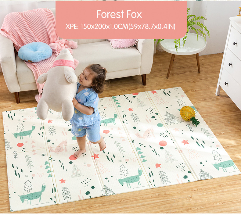 HTB1il9UcBGw3KVjSZFwq6zQ2FXam Infant Shining Baby Play Mat Xpe Puzzle Children's Mat Thickened Tapete Infantil Baby Room Crawling Pad Folding Mat Baby Carpet