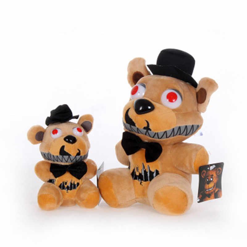 Caliente cinco noches en Freddy's FNAF Freddy oso de peluche pesadilla trampolín mangle astuto Bonnie llavero colgante Regalo de Cumpleaños peluche juguete