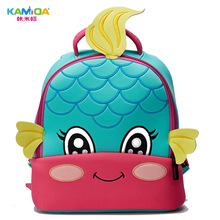 Mermaid Cute Cartoon Anime Kindergarten Backpack Kids 3D Embroidered Children Bag in Ultra Light Reduced for School