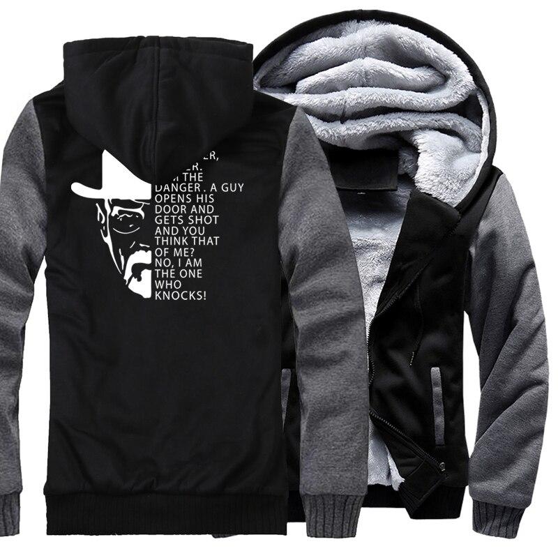 2017 Зимние флисовые плотные толстовки Для мужчин высокое качество хип-хоп толстовка мужская Breaking Bad Гейзенберга опасность принт кофты с капю... ...