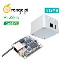 Turuncu Pi sıfır 512MB + koruyucu beyaz durumda, Mini tek tahtası seti