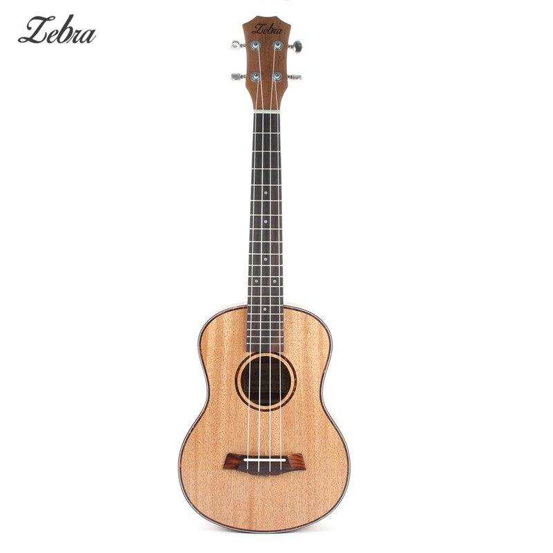 2019 Зебра из красного дерева весны 26 дюймов красного дерева сопрано укулеле гитара из Сапеле палисандр 4 струнные Гавайские гитары, музыкаль