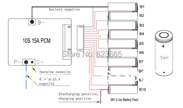 Conjunto de Bateria 3.6 v/3.7 v celular 10 Capacidade Nominal : FOR 5-20ah Bateria