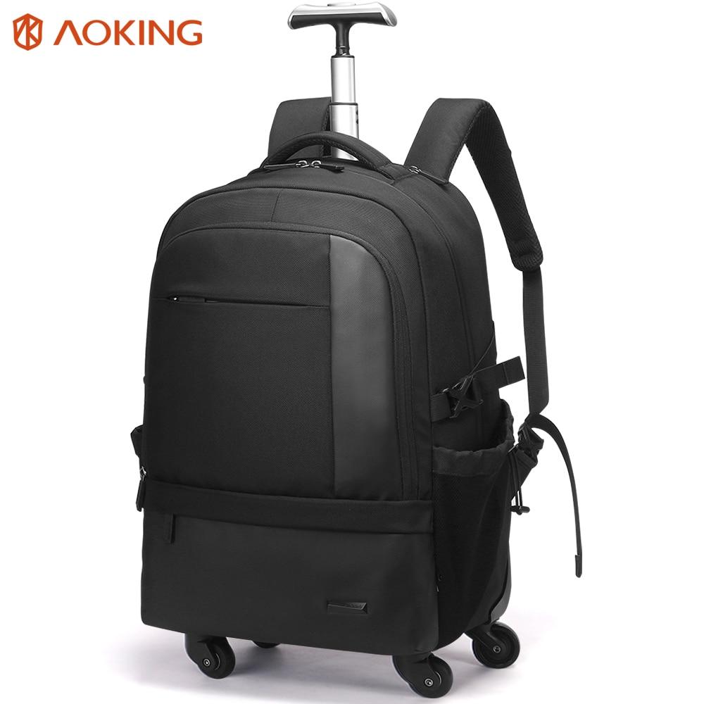 Aoking большой ёмкость рюкзак для тележки чемодан водостойкий Рюкзак Путешествия Multi Функция Carry On с карманом для ноутбука