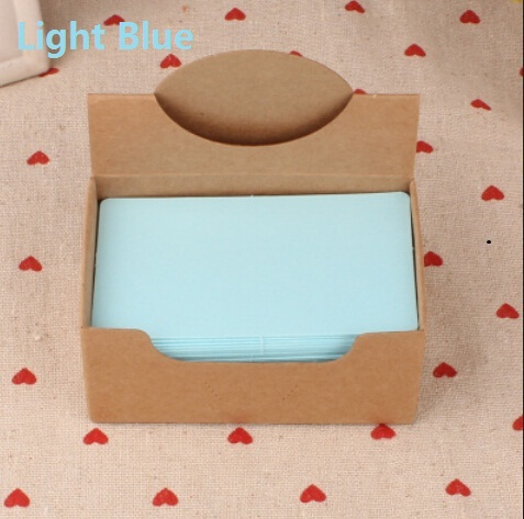 Hot selling 90*54mm.new arrival fashion cute retro Light Blue diy fun kraft paper tags.Blank paper Label.hang tag.bookmark.retai