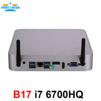 Причастником B17 Mini PC i7 6700HQ 6th Gen процессор Intel Core DDR4 Оперативная память Windows 10 игр PC 4 К UHD HTPC HDMI DP VGA Wi Fi