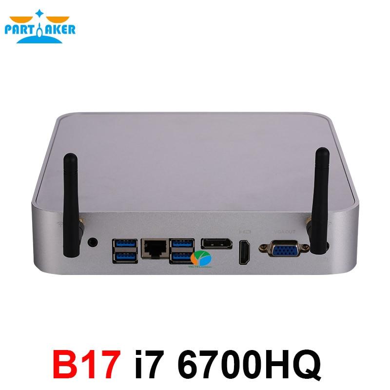 Partaker B17 Mini PC I7 6700HQ 6th Gen Intel Core Processor DDR4 RAM Windows 10 Gaming PC 4K UHD HTPC HDMI DP VGA WiFi