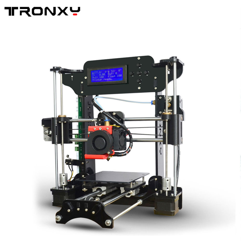 TRONXY XY-100 Reprap Prusa i3 kit DIY 3D printer Kit Large Size 3D Printer Diy kit With 1 Roll Free Filaments 8G SD Card as gift big size 220 220 240mm reprap prusa i3 3 d printer diy printer power supply by 110v 220v 1roll filaments 0 5kg and 16g sd card