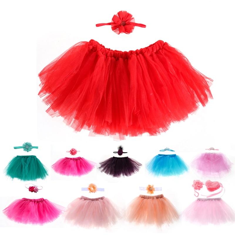 Newborn-Baby-Props-Tutu-Skirt-Handmade-Crochet-Flower-Cap-Headband-and-Tutu-Skirts-Baby-Photo-Props-Fotografia-2