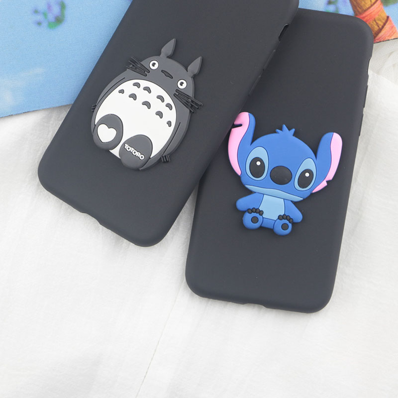 Cute Cartoon Stitch <font><b>Case</b></font> for <font><b>iPhone</b></font> 11 Pro Max X XR XS 8 Plus <font><b>7</b></font> 6s 6 5 5s 8 4s SE Soft Silicon Bear Totoro <font><b>Dinosaur</b></font> Phone Cover image
