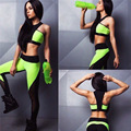 New 2017 Spring Woman Tracksuits Fashion Criss Cross Halter Woman Crop Top And Pant Two Piece Woman Set Patchwork Woman Suits