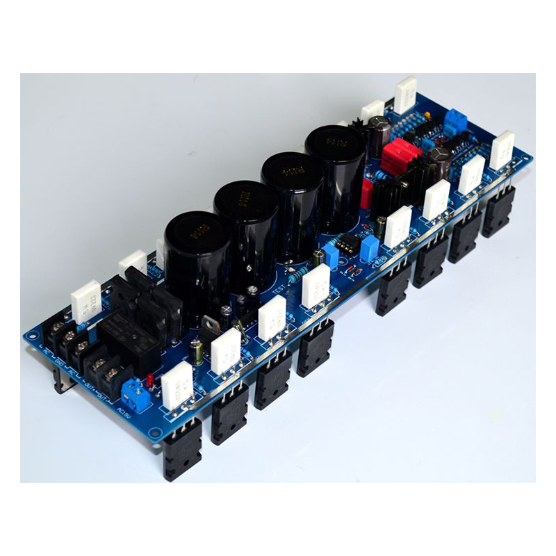 Amplifier AUDIO 2018 A60 Mono Power Amplifier Board power audio 4channels amplifier blue board amplifier with 3300uf capacitors