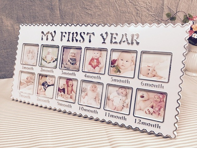Free Shipping Modern Babys Monthly Photo Frame Babys First Year