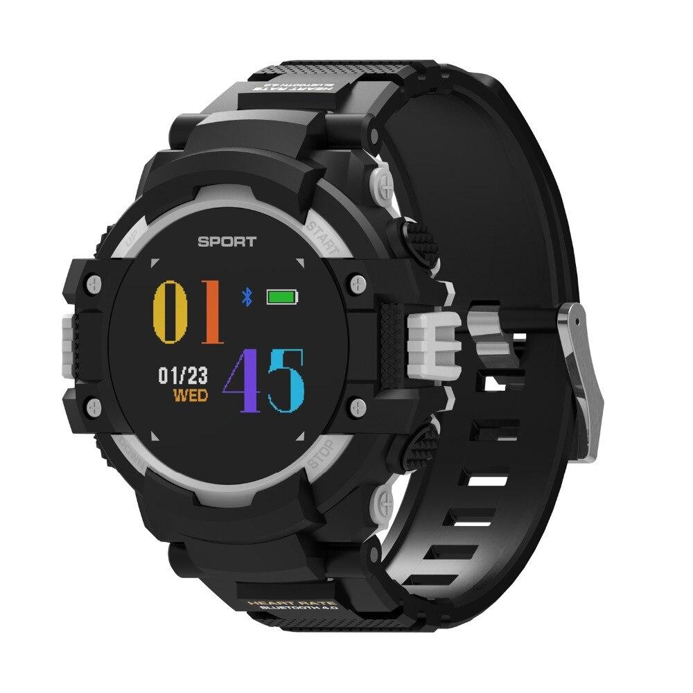 DTNO.1 NO 1 F7 GPS Montre Smart Watch Homme Couleur LCD En Temps Réel Coeur Taux Température Moniteur Multisport Sport En Plein Air Mode Smartwatch