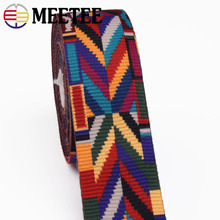 hot deal buy meetee 5meter 38/50mm ethnic jacquard webbing bag belt ribbon for diy home textile clothing belt decor sewing accessories bd385