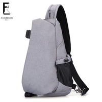 FENRUIEN New Male Chest Bag Fashion Leisure Men Oxford Cloth Messenger Shoulder Bag For Teenager Bag