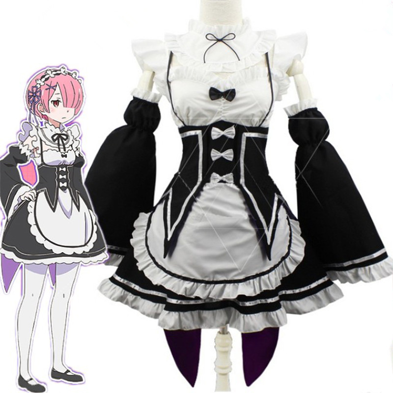 Home Gyhyd Anime Japanese Costume Maid Dress Ram Rem Cosplay Girls Re:zero Kara Hajimeru Isekai Seikatsu Life In A Different World Always Buy Good