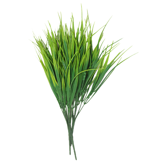 7 Fork water grass Eucalyptus Plastic Artificial Plants Green Grass plastic flower Plant Wedding Home Decoration Table Decors 2