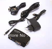 Wholesale TV BNC Composite S video VGA In to PC VGA LCD Out Converter Adapter Box Black