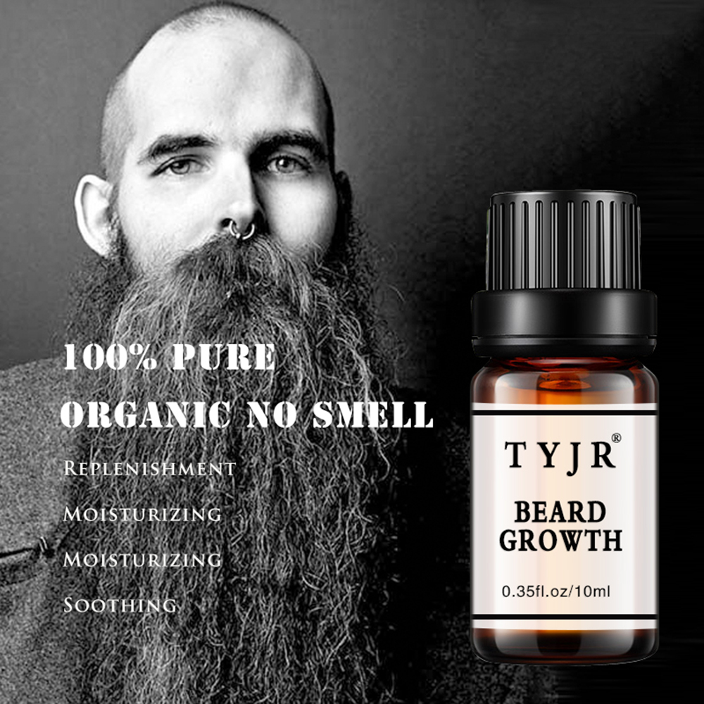 10ML 100% Natural Beard Growth Essence Beard Oil Enhancer Facial Nutrition Moustache For Hair Loss Products New TSLM2