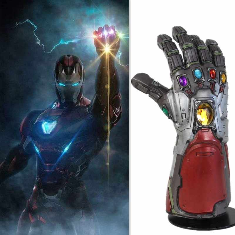 Endgame Thanos Iron Man Hulk Infinity Gauntlet Cosplay Guanti Accessorio Puntelli Tony Stark Iron Man Gauntlet Cosplay