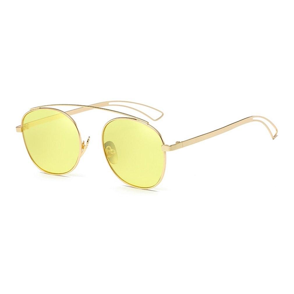 New Brand Designer Vintage round Sunglasses Women Men Metal Frame Sunglasses Color Film Sun Glasses Unisex Eyewear oculos de sol 2