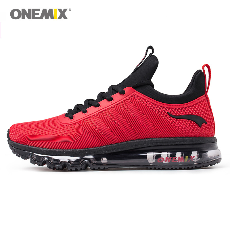 2018 Max Man Running Shoes Men Trail Nice Trends Athletic Trainers Black Red High Sports Boots Cushion Outdoor Walking Sneakers onemix max woman running shoes for women trail nice trends athletic trainers womens plum high top sports boots cushion sneakers