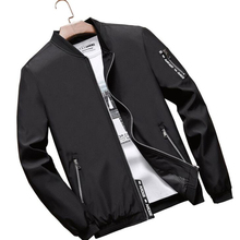 лучшая цена 2019 Spring New Men's Bomber Zipper Jacket Male Casual Streetwear Hip Hop Slim Fit Pilot Coat Men Clothing Plus Size 4XL