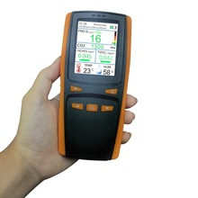 Gas Detector Household Hand-held CO2 Meter PM2.5 Air Quality Detector for Detecting Carbon Dioxide Dust PM2.5 Formaldehyde HCHO bypass valve ventilator household dust haze pm2 5 detector air quality with sensor laser
