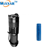 RUZK50 CREE Q5 Mini 2000LM 3 Modes LED Flashlight Waterproof Adjustable LED Flashlight With 14500 2000mAh Rechargeable Battery