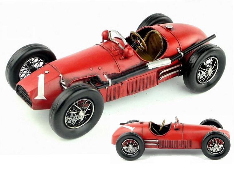 Free Shipping Handmade Vintage Red 1952 500 Car Model
