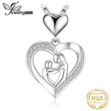 JewelryPalace 925 Sterling Silver Pendants Necklace Mother Love Heart Cubic Zirconia Pendant Without Chain jewelrypalace authentic 925 sterling silver pendants necklace crown wings honey bee pendant without chain cubic zirconia jewelry