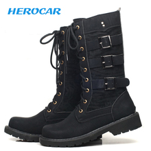 Motorcycle Boots Men motocross boots motorbike Moto Boots Retro Artificial Leather Punk Martin Shoes biker Protective Gear 37-45