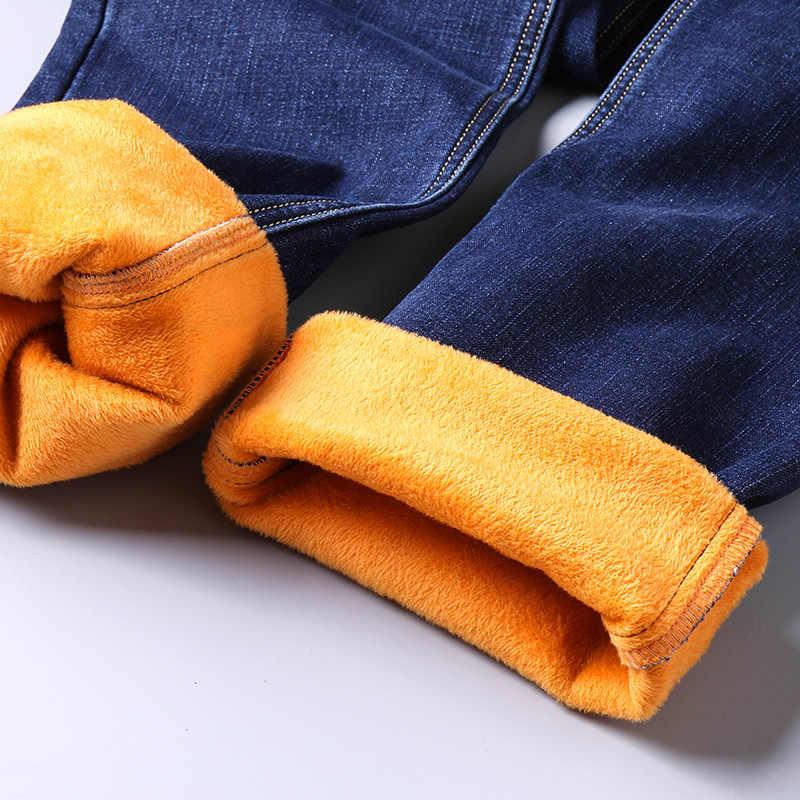 Jantour теплые джинсы мужские зимние высококачественные известные бренды вельветовые флисовые прямые джинсы брюки флокированные теплые мужские штаны мужские 40