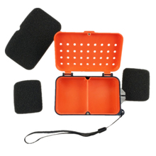 Multifunctional 2 Compartments Fishing Box 10*6*3.2cm Plastic Earthworm Worm Bait Lure Fly Carp Fishing Tackle Box Accessories