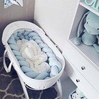2 м/3 м Детская кровать бампер узел кроватка бампер для новорожденных завязанная тесьма ткачество плюшевые Детские защита для кроватки Млад...