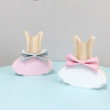 INS Nordic Style Wooden Dress Decorative Ornaments For Kids Room Decoration Wood Baby Toys Crafts Girls Gifts Photography Props ins nordic style wooden rainbow building blocks for baby room decoration ornaments wood educational toys gifts photography props
