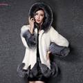 New Design Fur Coat 2016 Fashion Winter Women Faux Fox Mink Fur Coat Woman Luxury Medium Long Fake Fur Coats Mujer Female Coat