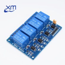 ¡30 unids/lote 4 módulo de canal de relé 4 tarjeta de control de canales de relé con optoacoplador! Módulo de relé de salida de 4 vías