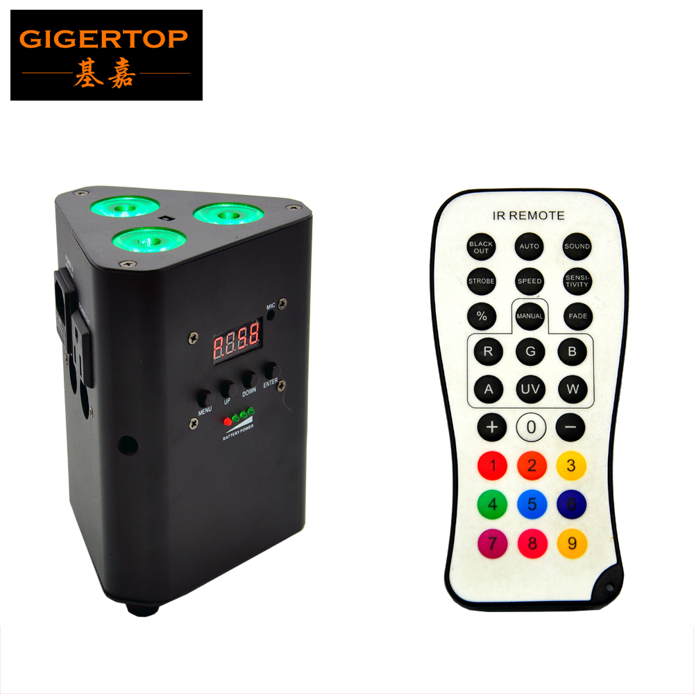 TIPTOP TP-G3047-4IN1 Wedding Battery Uplighting 3*10W RGBW 4in1 Leds IRC Infrared Remote Control Mini Packing Size Hanging Hole